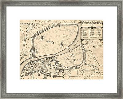 Map Of Berlin And Coelln, 1652 Framed Print