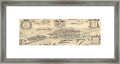 Map Of Berlin And Coelln, 1688 Framed Print