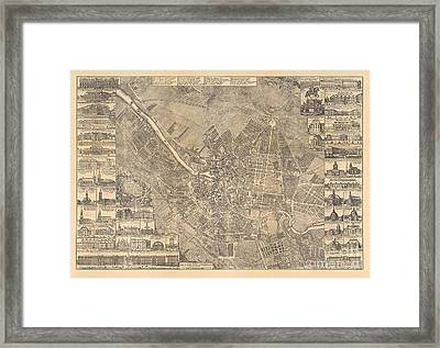 Map Of Berlin Showing Buildings Of Interest, 1773 Framed Print