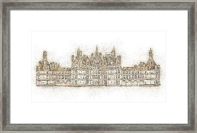 Map Of The Castle Chambord Framed Print by Anton Kalinichev