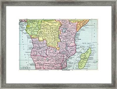 Map Of Central Africa Circa 1930. From Framed Print by Vintage Design Pics