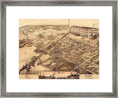 Map Of Collingwood 1875 Framed Print