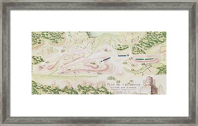 Map Of Crompond Ny Framed Print by F Dubourg