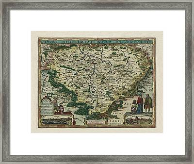 Map Of Czech Republic 1618 Framed Print by Andrew Fare