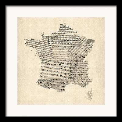 French Map Framed Prints