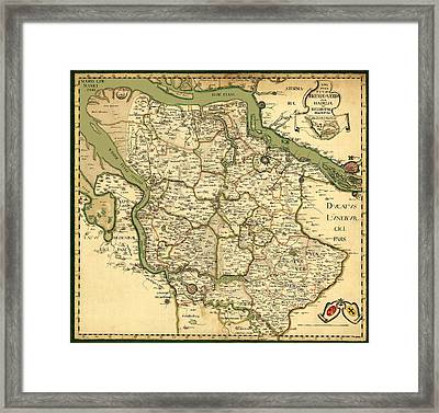 Map Of Germany 1750 Framed Print by Andrew Fare