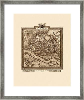 Map Of Hamburg 1803 Framed Print