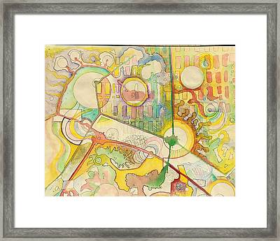 Map Of Imaginary City Framed Print