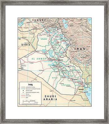 Map Of Iraq Framed Print