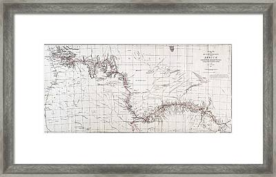 Map Of Livingstones Route Across Framed Print by Wellcome Images