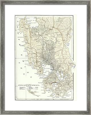 Map Of Manila, Philippines And The Seat Of War During The Spanish-american War Of 1898 Framed Print