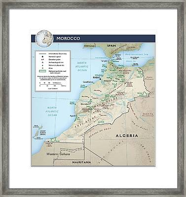 Map Of Morocco 2 Framed Print