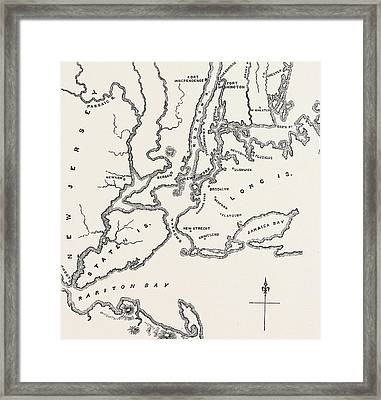Map Of New York And Vicinity Framed Print by American School