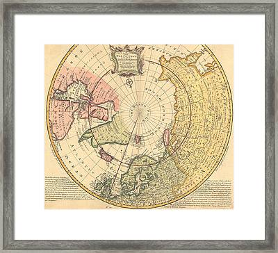 Map Of North Pole Framed Print by Emanuel Bowen