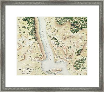 Map Of North West Point Va Framed Print by F Dubourg