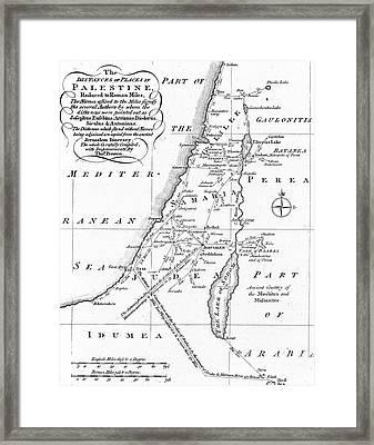Map Of Palestine Framed Print