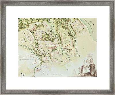 Map Of Phillipsburg Framed Print by F Dubourg