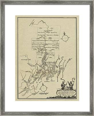 Map Of Plymouth Framed Print by Andrew Fare