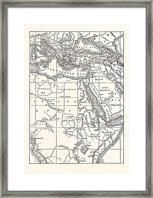 Map Of South Eastern Europe Western Asia And Northern Africa Framed Print by English School