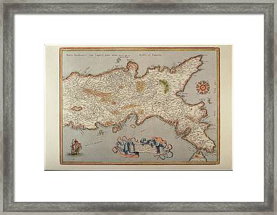 Map Of The Kingdom Of Naples Framed Print by Fototeca Storica Nazionale