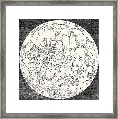 Map Of The Moon Framed Print