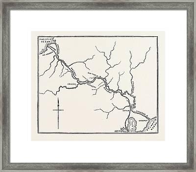 Map Of The Panama Railroad Framed Print