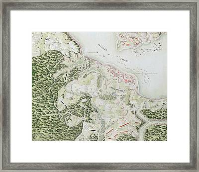 Map Of The Siege Of York Framed Print by F Dubourg