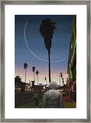 Map Of The Stars Framed Print by Scott Listfield