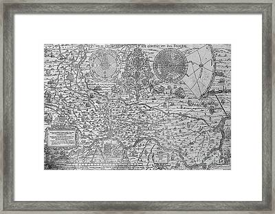 Map Of The Town And Diocese Of Cremona, 1571 Framed Print