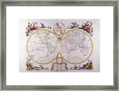 Map Of The World Framed Print by Fototeca Storica Nazionale