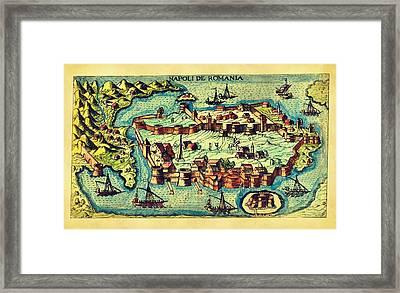 Map Seaport Framed Print