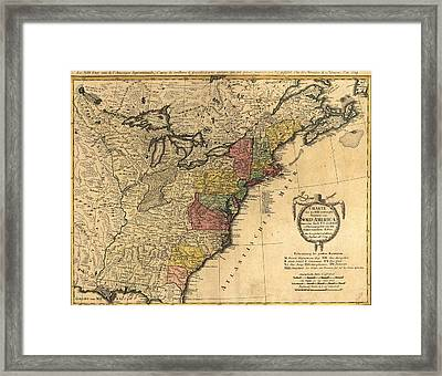 Map Showing The Newly Independent Framed Print by Everett