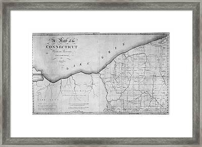 Map: Western Reserve Framed Print by Granger