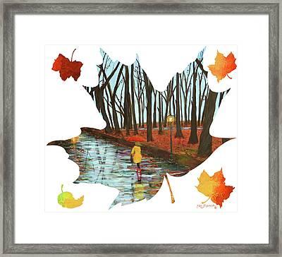 Maple Leaf End Of Autumn Framed Print by Ken Figurski