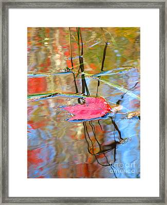 I Am Here In The Changing Waters Framed Print by Sybil Staples