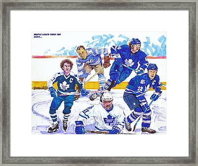 Maple Leafs Thru The Ages Framed Print by Brian Child