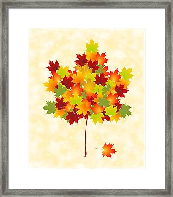 Maple Leaves Framed Print by Anastasiya Malakhova