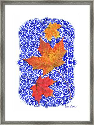 Framed Print featuring the digital art Maple Leaves by Lise Winne