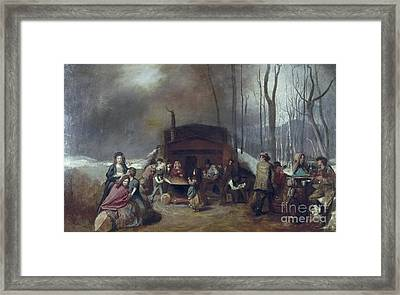 Maple Syrup, C1865 Framed Print by Granger