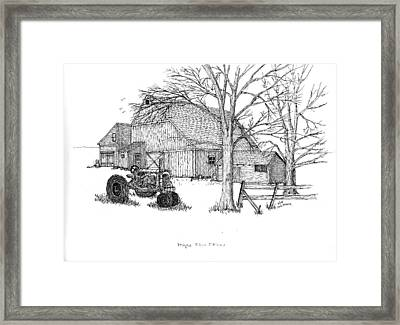 Framed Print featuring the drawing Maple Tree Farm by Jack G  Brauer