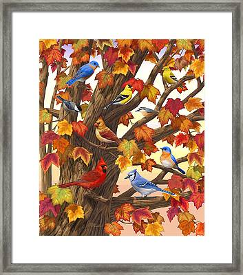 Maple Tree Marvel - Bird Painting Framed Print
