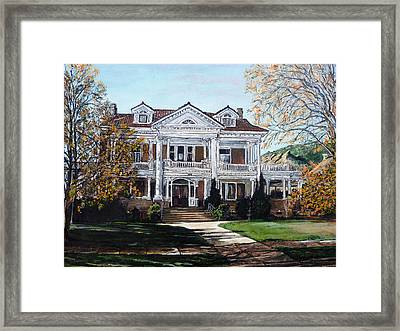 Framed Print featuring the painting Mapleton Hill Homestead by Tom Roderick