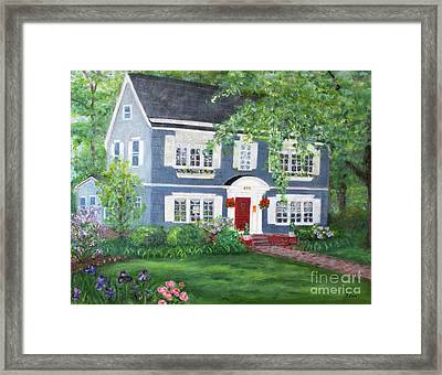 Maplewood Colonial Framed Print