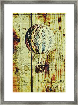 Mapping A Hot Air Balloon Framed Print