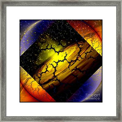 Mapping Interfractal Space Framed Print by Elizabeth McTaggart