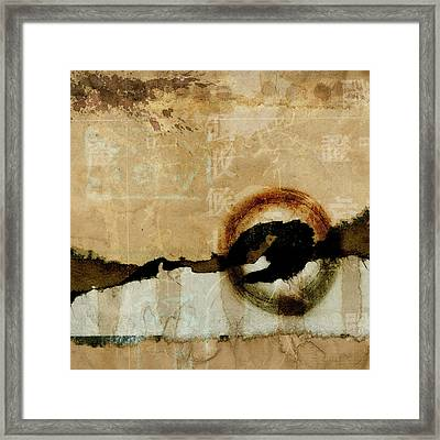 Mapping The Mountains Mixed Media Framed Print by Carol Leigh