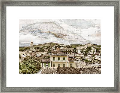 Mapping Trinidad Framed Print