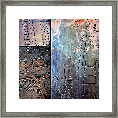 Maps #9 Framed Print by Joan Ladendorf
