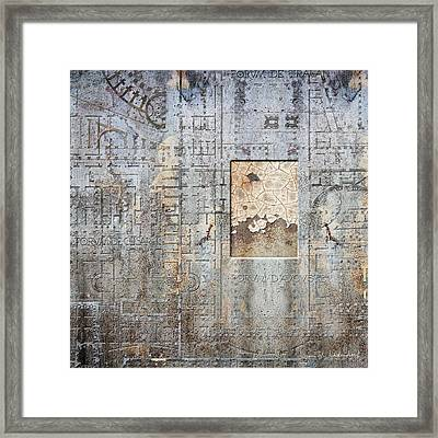 Maps #18 Framed Print by Joan Ladendorf