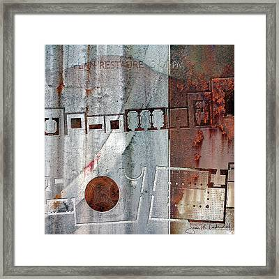 Maps #20 Framed Print by Joan Ladendorf